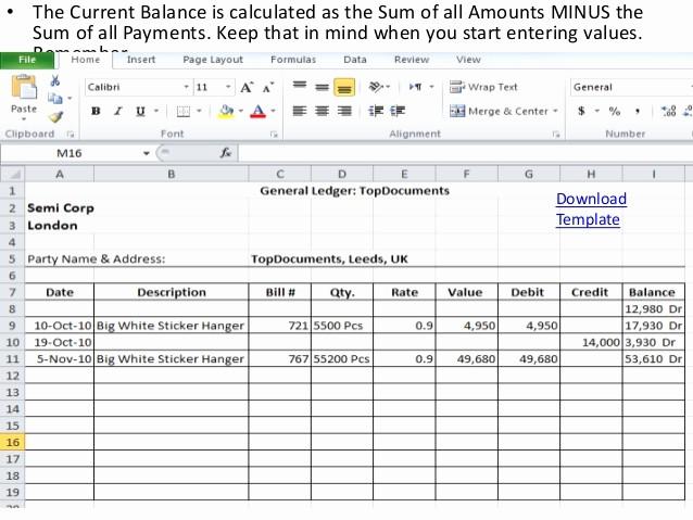 Create A Ledger In Excel Lovely General Ledger Templates Excel format