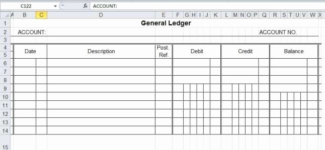 Create A Ledger In Excel Luxury 12 Excel General Ledger Templates Excel Templates