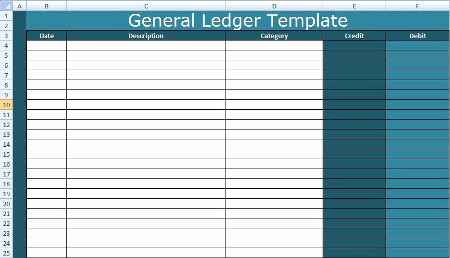 Create A Ledger In Excel Luxury A General Ledger Template Excel is therefore Create to