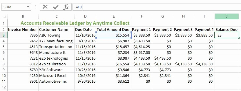 Create A Ledger In Excel New How to Create An Accounts Receivable Ledger In Excel