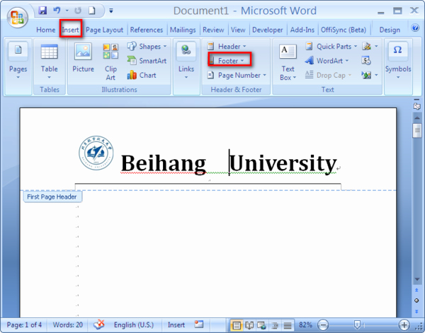 Create A Letterhead In Word Beautiful Digital World Insert Tab In Microsoft Word