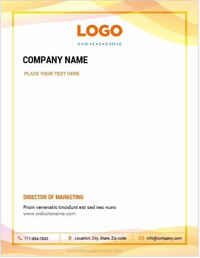 Create A Letterhead In Word Elegant 10 Best Letterhead Templates Word 2007 format