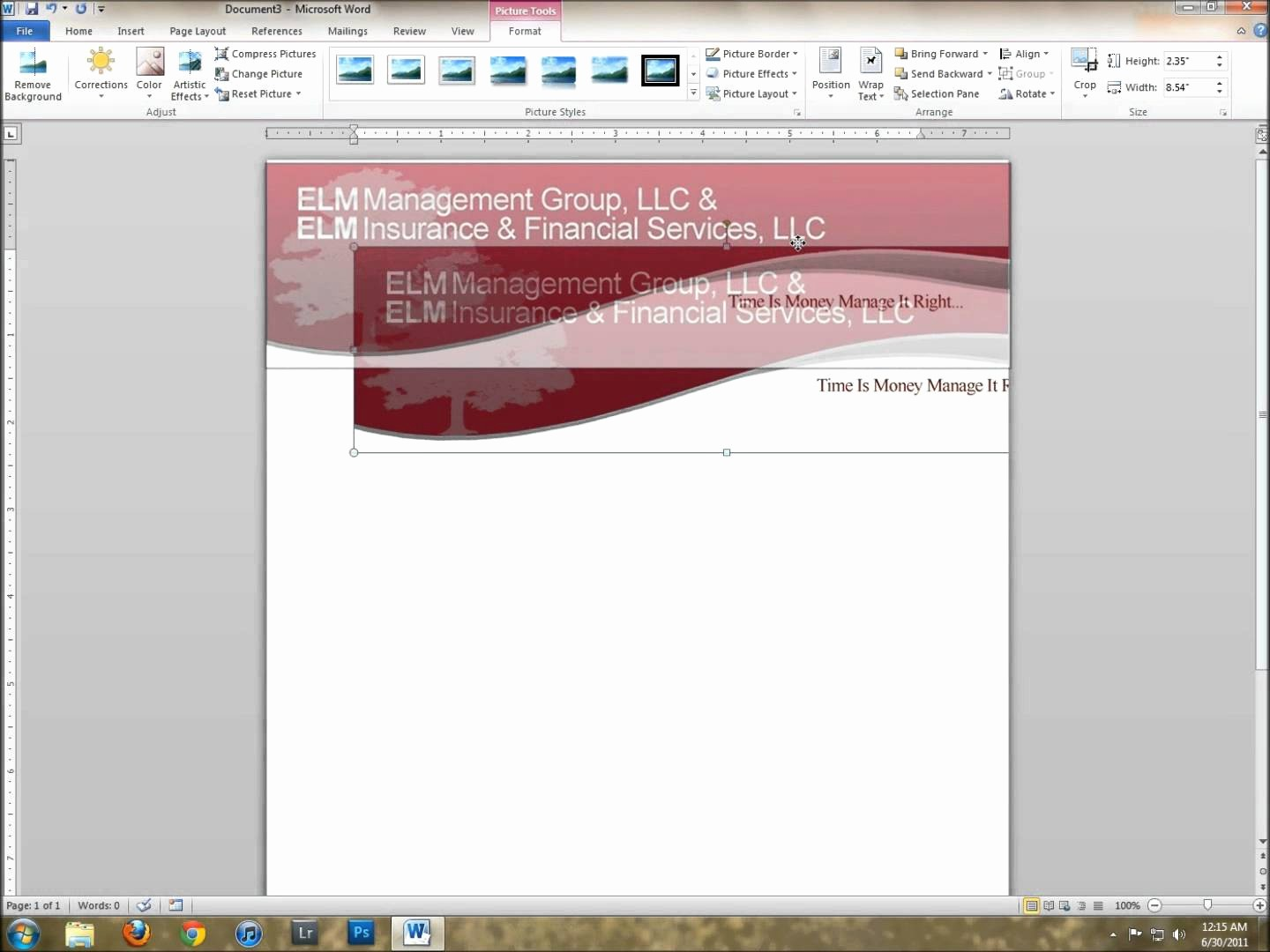 Create A Letterhead In Word Inspirational How to Create Letterhead Template In Word 2007