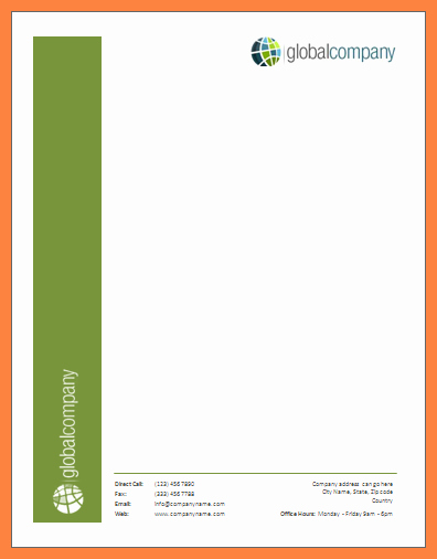 Create A Letterhead In Word New 4 Creating Letterhead Template In Word