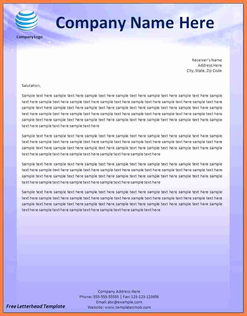Create A Letterhead In Word New 9 Creating A Letterhead Template In Word