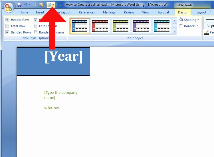 """Create A Letterhead In Word New How to Create A Letterhead In Microsoft Word Using """"cover"""