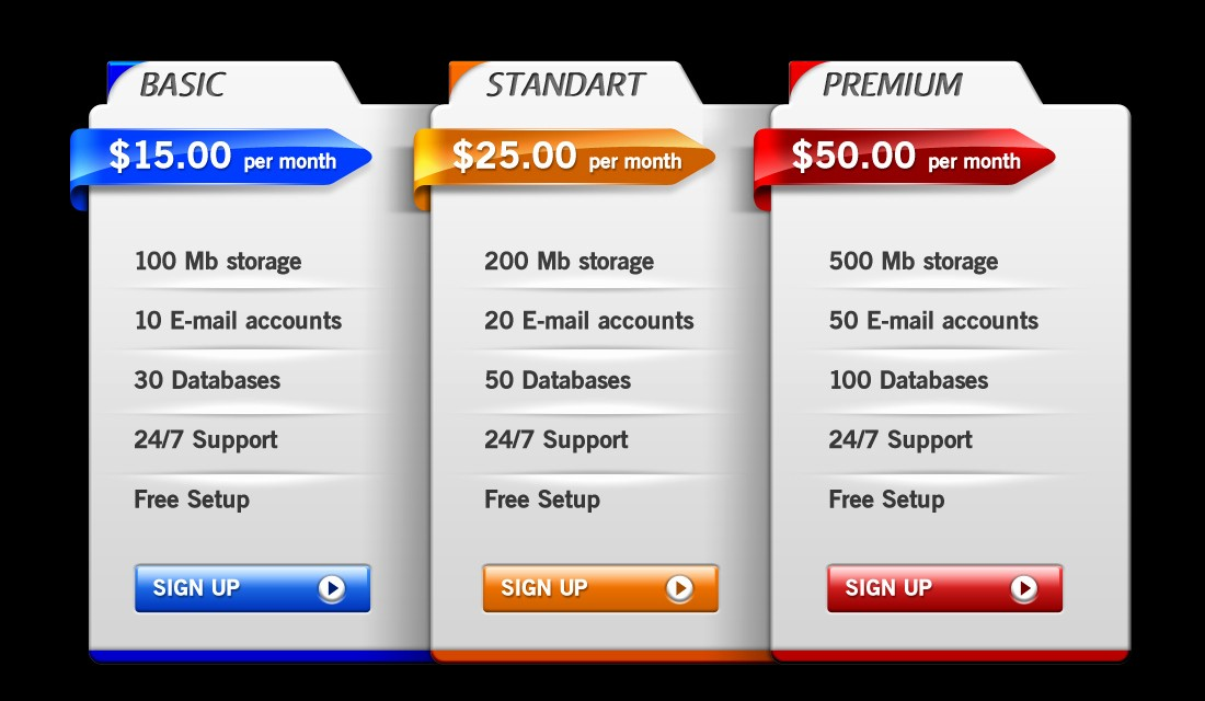 Create A Price List Template Beautiful 35 Best Pricing Table Psd Templates Free Download