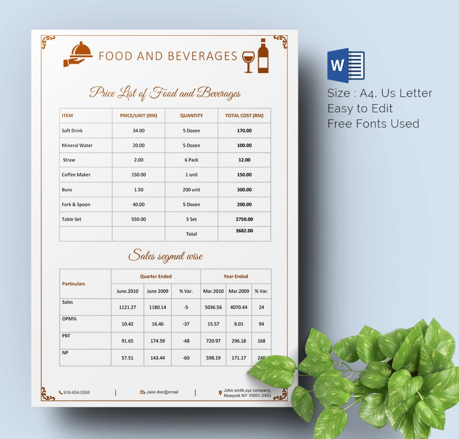 Create A Price List Template Fresh 25 Price List Templates Doc Pdf Excel Psd