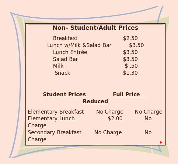 Create A Price List Template Lovely 17 School Menu Templates Psd Pdf Word Ai
