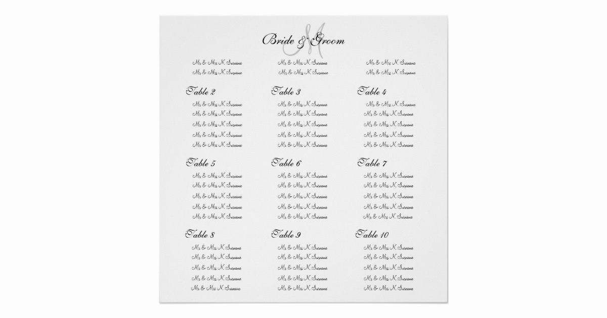 """Create A Seating Chart Free Unique Wedding Seating Chart Template """"make Your Own"""" Poster"""