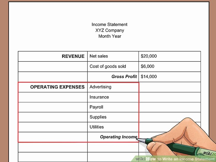 Create An Income Statement Online Beautiful How to Write An In E Statement with Wikihow