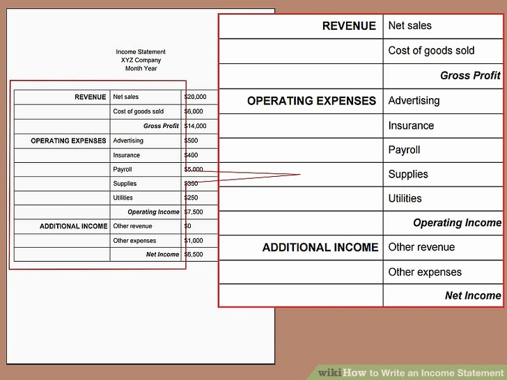Create An Income Statement Online Elegant How to Write An In E Statement with Wikihow