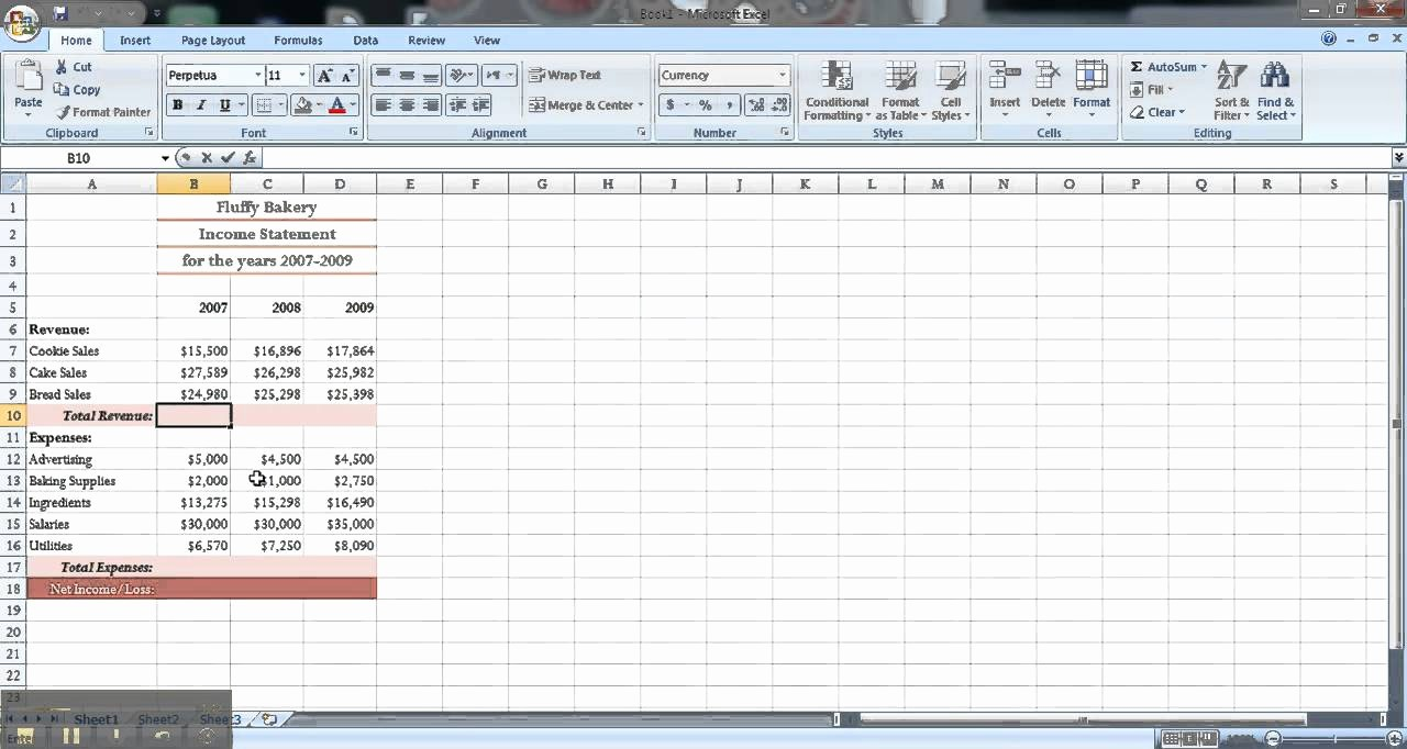 Create An Income Statement Online Lovely Excel Tutorial How to Make An In E Statement
