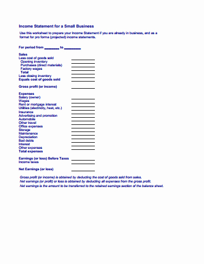 Create An Income Statement Online Lovely In E Statement Free Download Create Edit Fill and