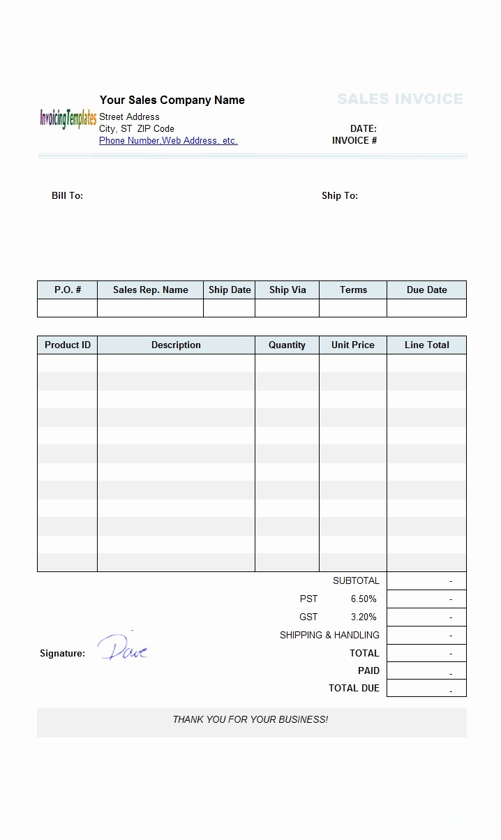 make your own invoice template