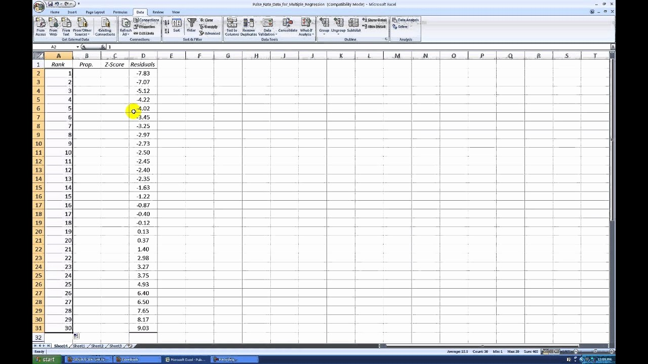 Create Graph Paper In Excel Elegant Creating A normal Probability Plot with Excel 2007