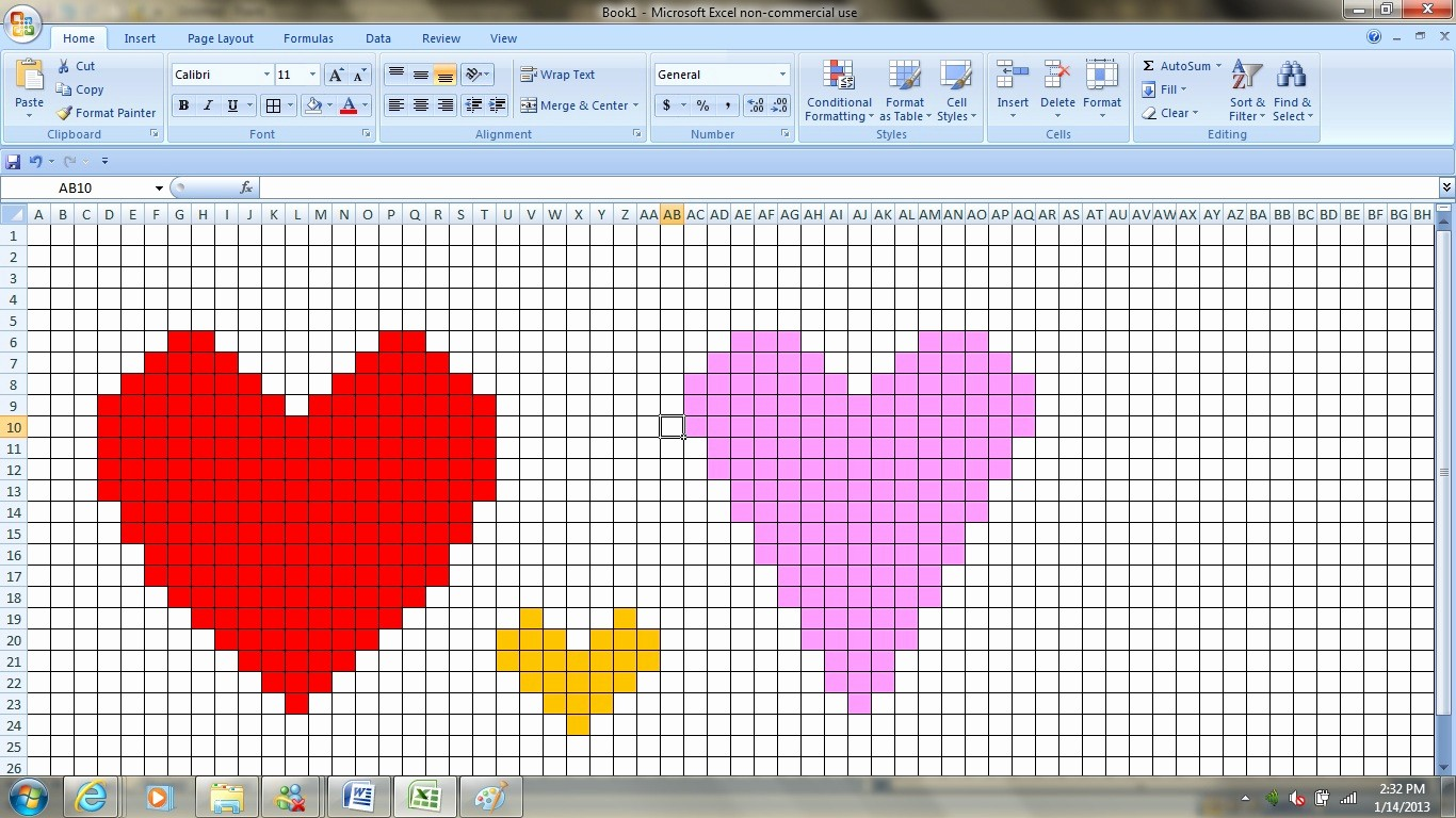 Create Graph Paper In Excel New Mayuya S Randoms Creating Crochet Heart Patterns