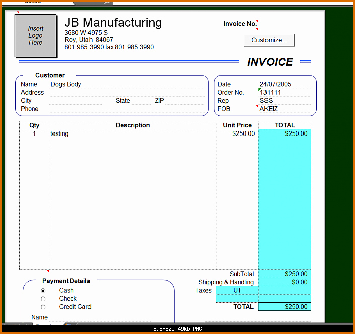 Create Invoice Template In Excel Awesome 10 Microsoft Excel Invoice Template