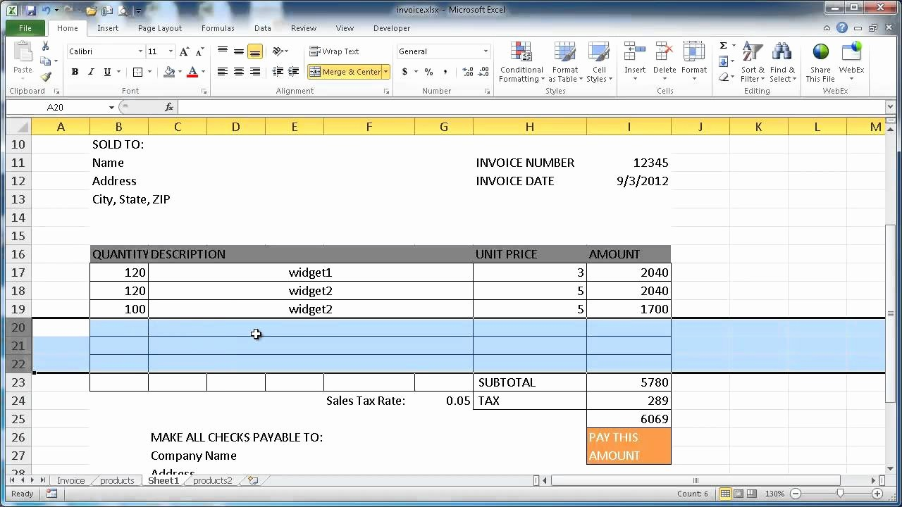 Create Invoice Template In Excel Fresh Create An Invoice In Excel