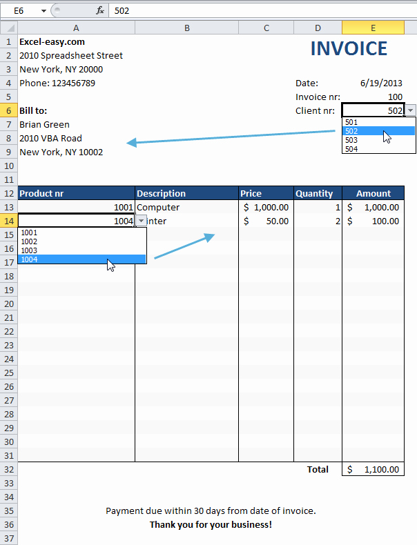Create Invoice Template In Excel Fresh Invoice Excel