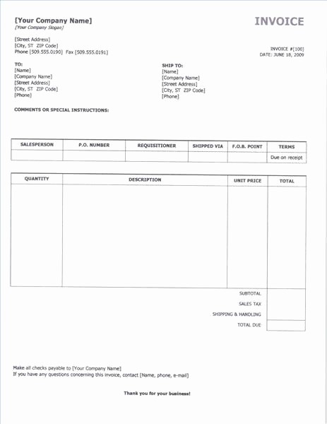 Create Invoice Template In Word Luxury Invoice Template