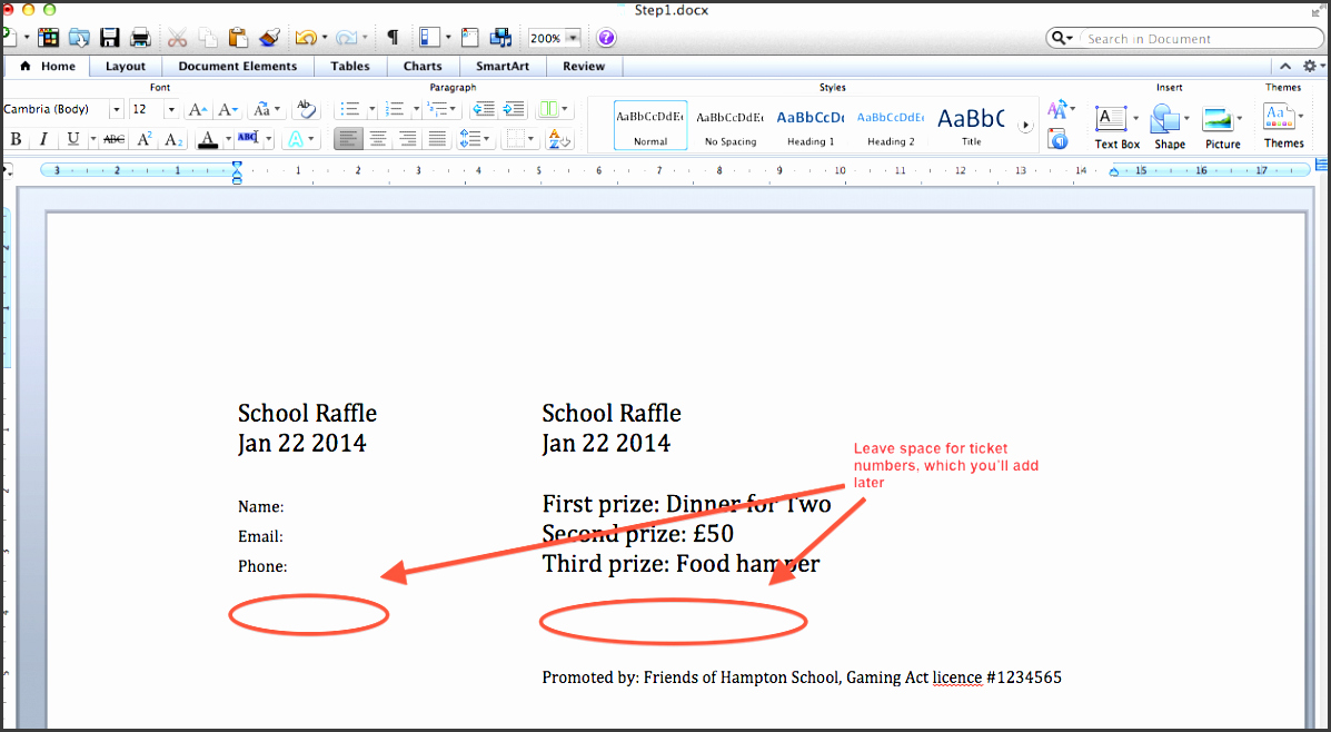 Create Numbered Tickets In Word Best Of 4 How to Create Raffle Ticket In Word Sampletemplatess