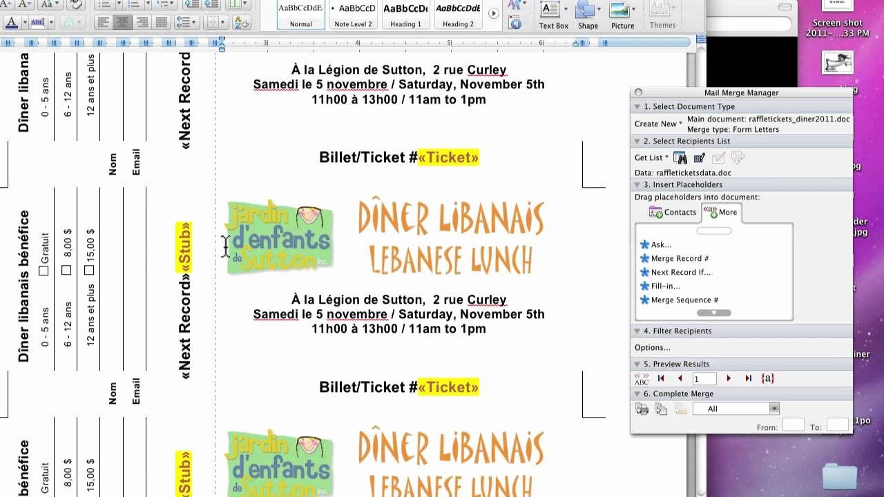 Create Numbered Tickets In Word Elegant Raffle Tickets