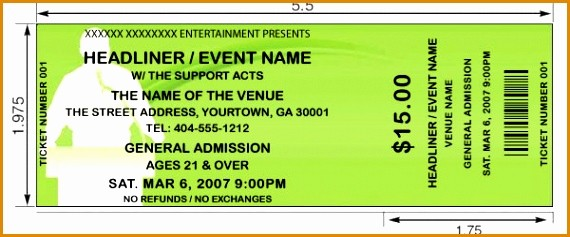 Create Numbered Tickets In Word Fresh 6 How to Make Tickets for events Besttemplates