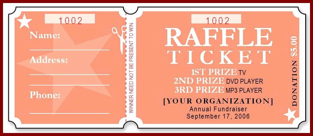 Create Numbered Tickets In Word Fresh Free Raffle Ticket Template