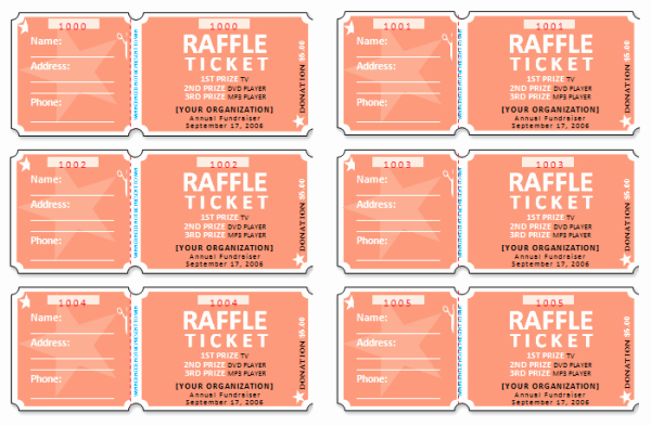 Create Numbered Tickets In Word Fresh Raffle Ticket Templates