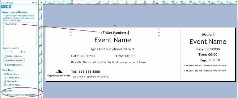 Create Numbered Tickets In Word Lovely Create Free Raffle Ticket Template Tickets In Word