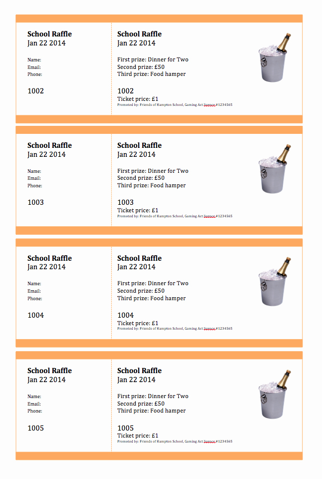 Create Numbered Tickets In Word New Create Numbered Raffle Tickets In Word for Mac 2011