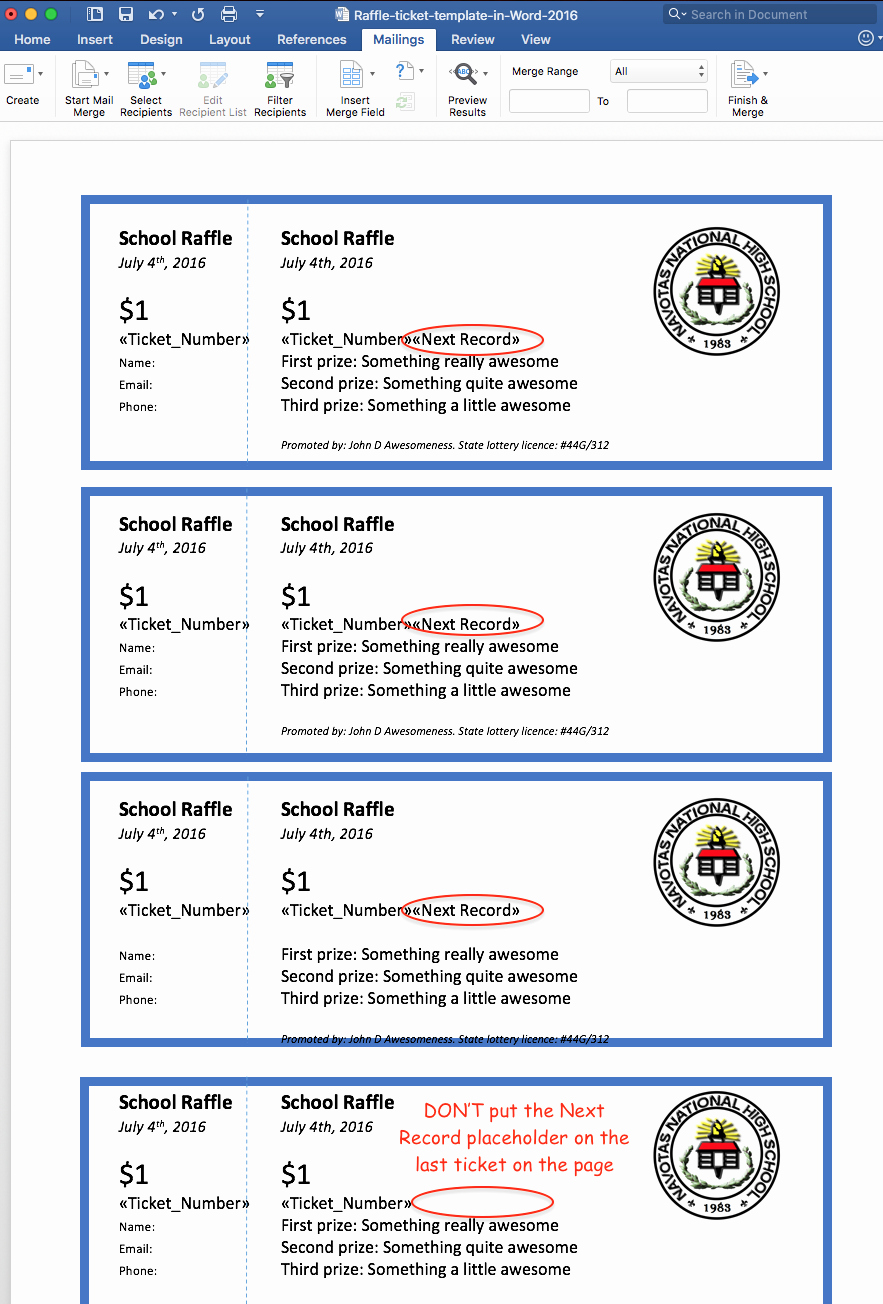Create Numbered Tickets In Word Unique Create Printable Raffle Tickets In Word