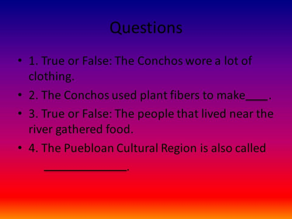 Create True or False Quiz Fresh Concho Indians by Krysten Collins Ppt