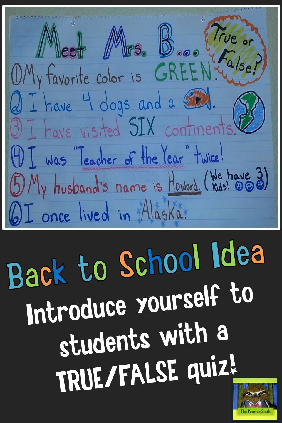 Create True or False Quiz Fresh Introduce Yourself to Students with A Back to School Quiz
