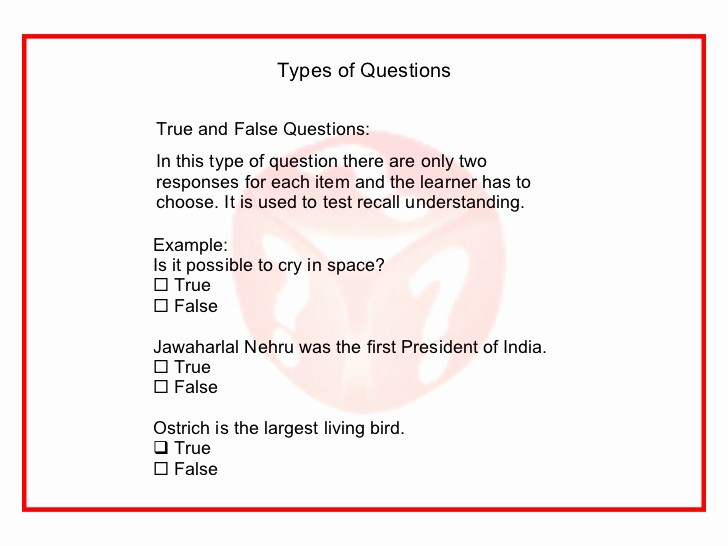 Create True or False Quiz Inspirational Creating assessment Questions In Elearning