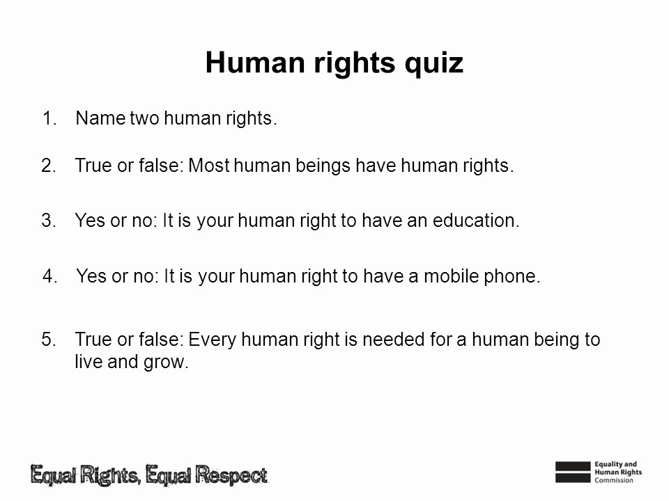 Create True or False Quiz Lovely How Do Human Rights Work Ppt