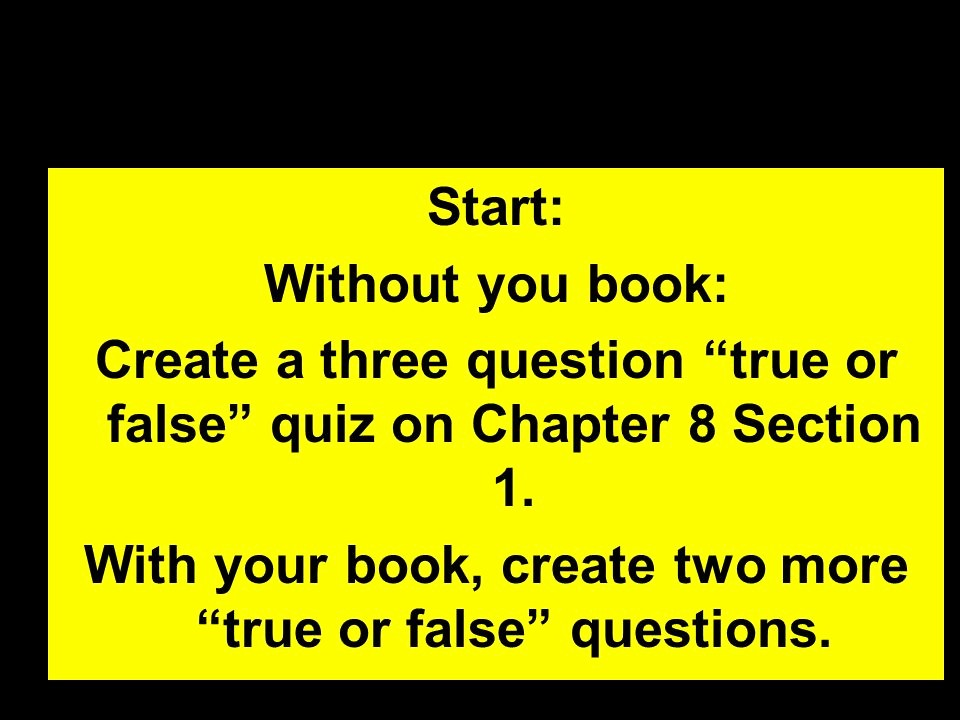 Create True or False Quiz Luxury Progressive Agendas Section Ppt Video Online