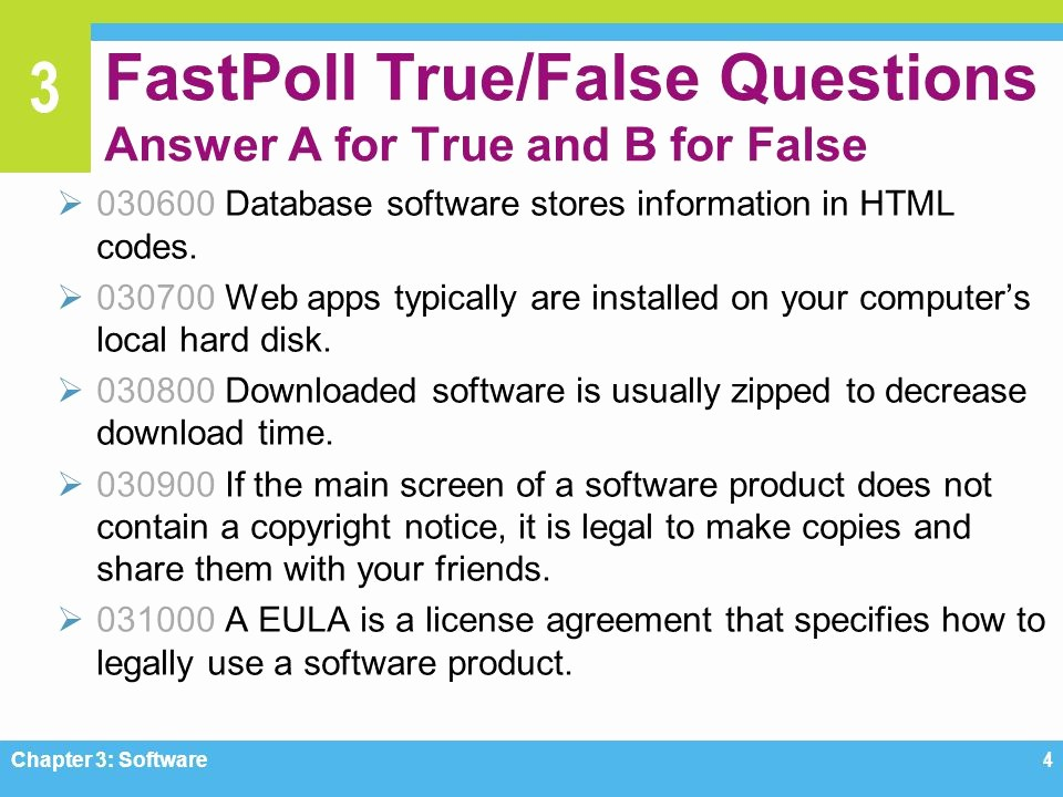 Create True or False Quiz New Chapter 3 software Ppt Video Online