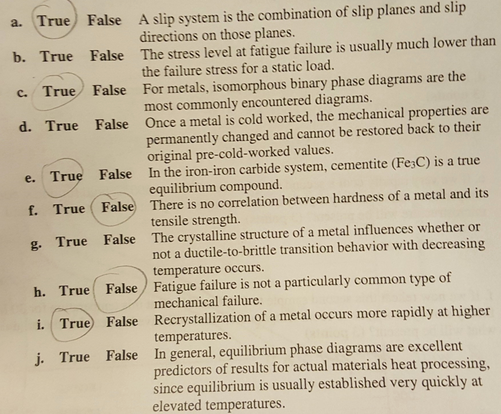 Create True or False Quiz Unique solved Please Help Me with these True False Questions for
