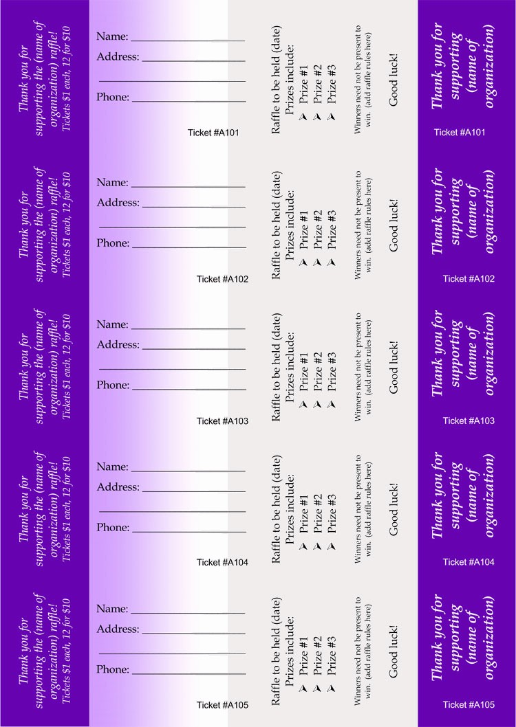 Create Your Own Raffle Tickets Awesome 45 Raffle Ticket Templates