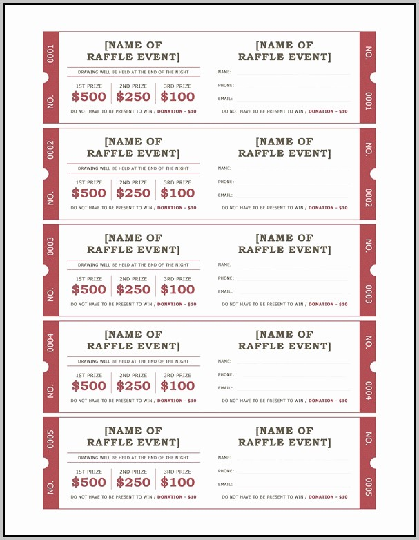 Create Your Own Raffle Tickets Awesome Draw Tickets Template Resume Examples Gokv4yekp6