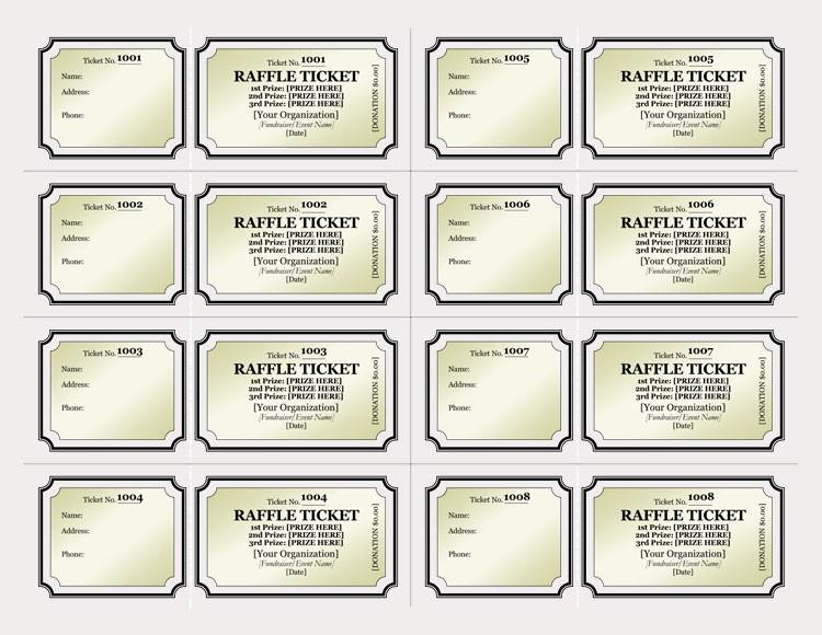 Create Your Own Raffle Tickets Elegant 45 Raffle Ticket Templates