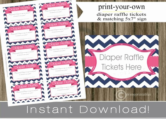 Create Your Own Raffle Tickets Elegant Baby Shower Diaper Raffle Tickets with Matching Sign Navy Blue