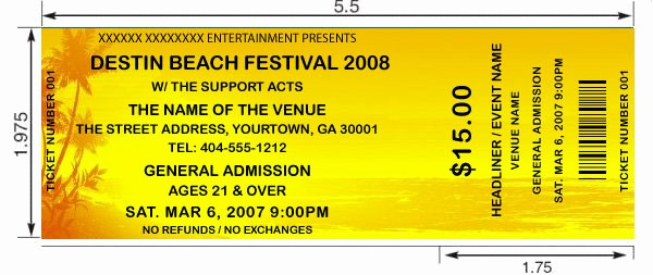 Create Your Own Tickets Free Elegant Beach theme Tickets Design and Print Your Own Custom
