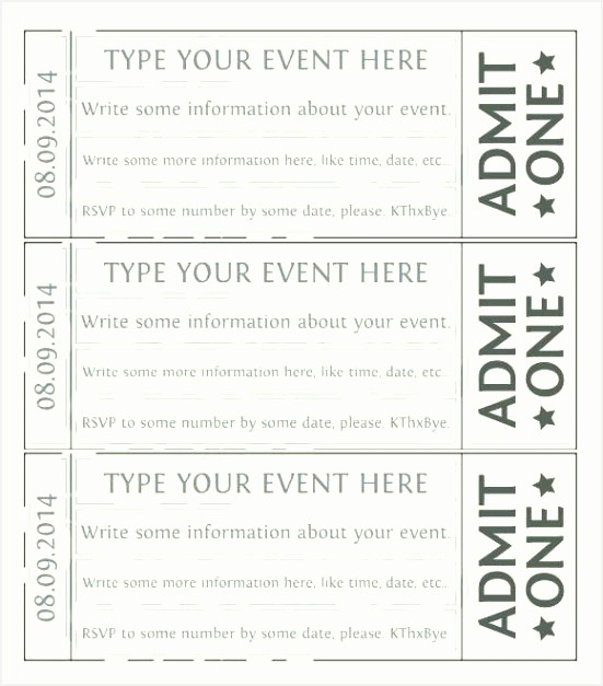 Create Your Own Tickets Free Elegant Print Your Own event Tickets event Flyer Maker