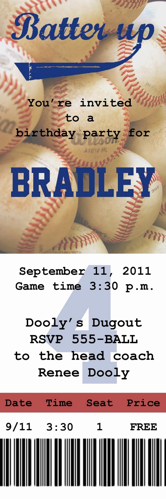 Create Your Own Tickets Free Luxury I Love the Idea Of An Invite Like This to A Baseball Game