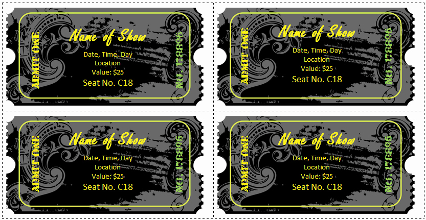 Create Your Own Tickets Free New 6 Ticket Templates for Word to Design Your Own Free Tickets