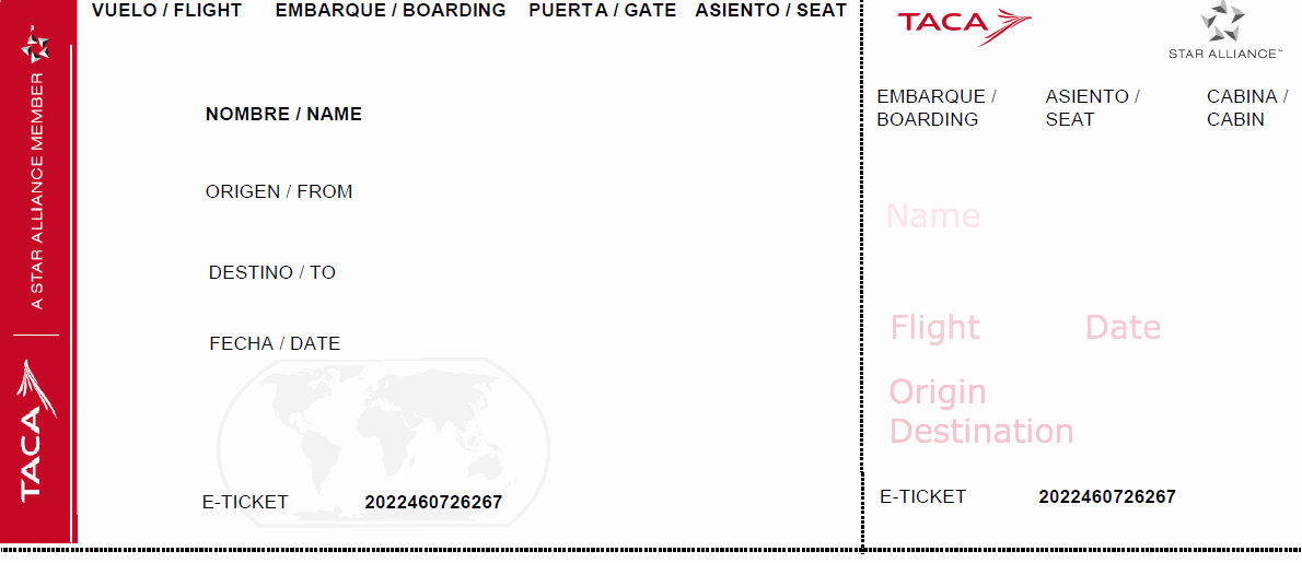 Create Your Own Tickets Template Elegant Travel theme