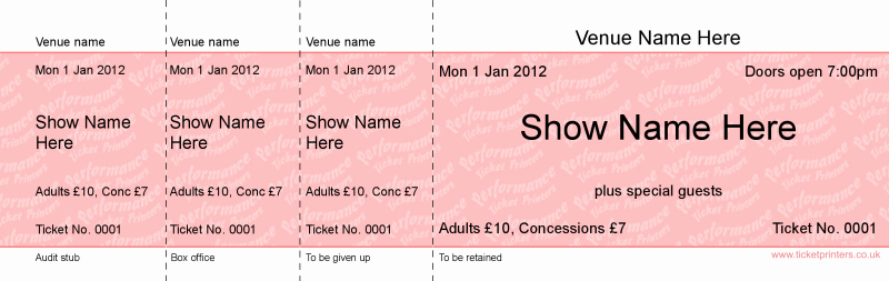 Create Your Own Tickets Template Fresh Basic Tickets Performance Ticket Printers